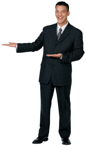 Mann Zeigt professionelle Webseitenerstellung - NB Internet Marketing